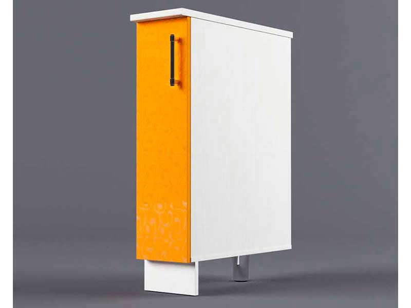 Шкаф напольный Н200 1дв бутылочница 850х200х600 Оранжевый