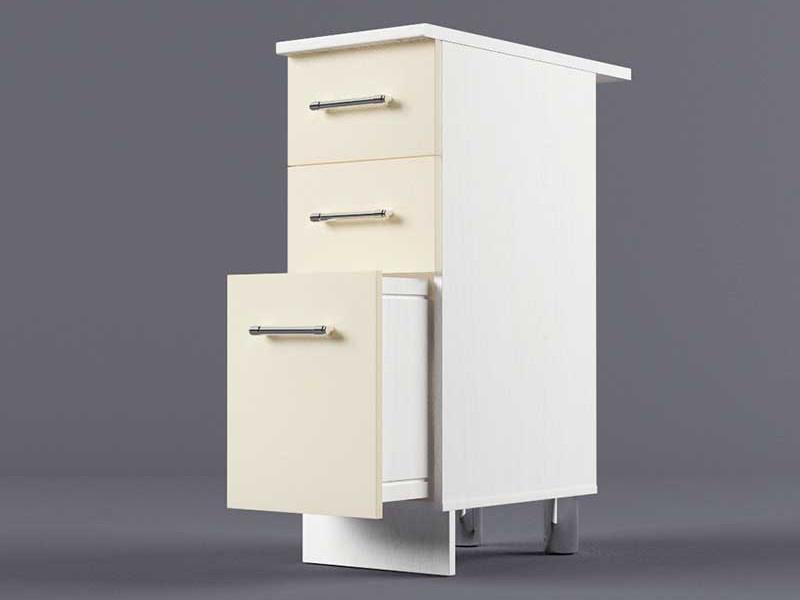 Шкаф напольный Н300 3ящ 850х300х600 Бежевый