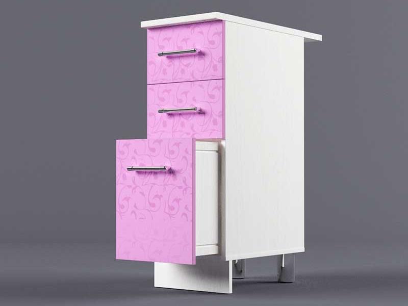 Шкаф напольный Н300 3ящ 850х300х600 Фиолетовый
