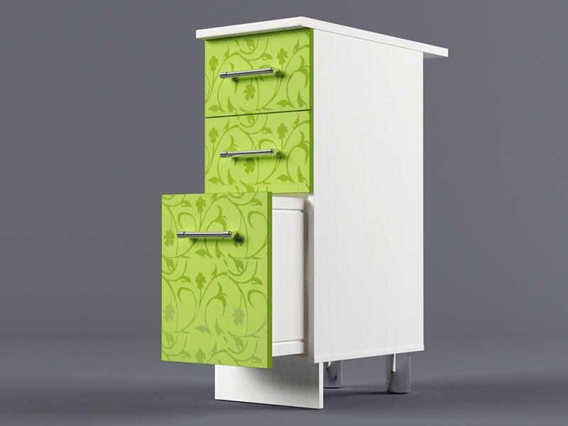 Шкаф напольный Н300 3ящ 850х300х600 Лимон