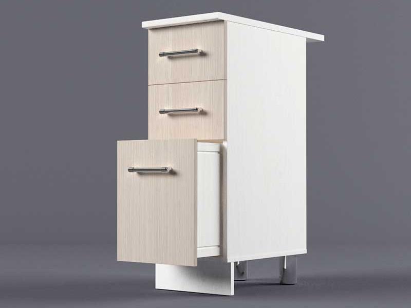 Шкаф напольный Н300 3ящ 850х300х600 Шимо светлый