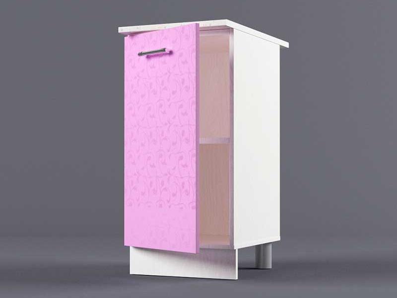 Шкаф напольный Н400 1дв 850х400х600 Фиолетовый