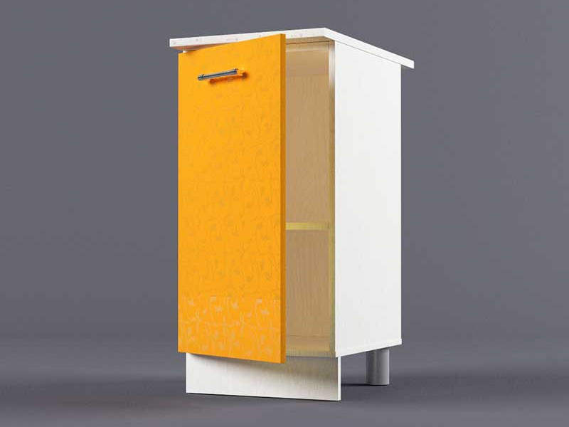 Шкаф напольный Н400 1дв 850х400х600 Оранжевый