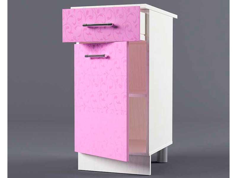 Шкаф напольный Н400 1ящ 1дв 850х400х600 Фиолетовый