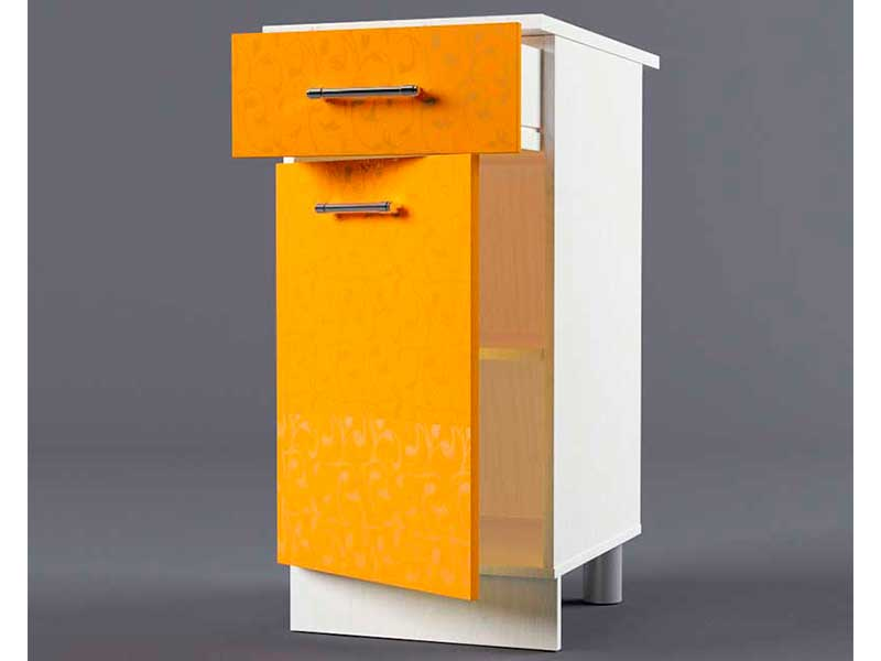 Шкаф напольный Н400 1ящ 1дв 850х400х600 Оранжевый