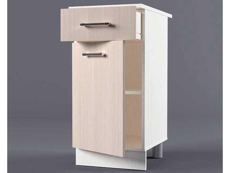 Шкаф напольный Н400 1ящ 1дв 850х400х600 Шимо светлый
