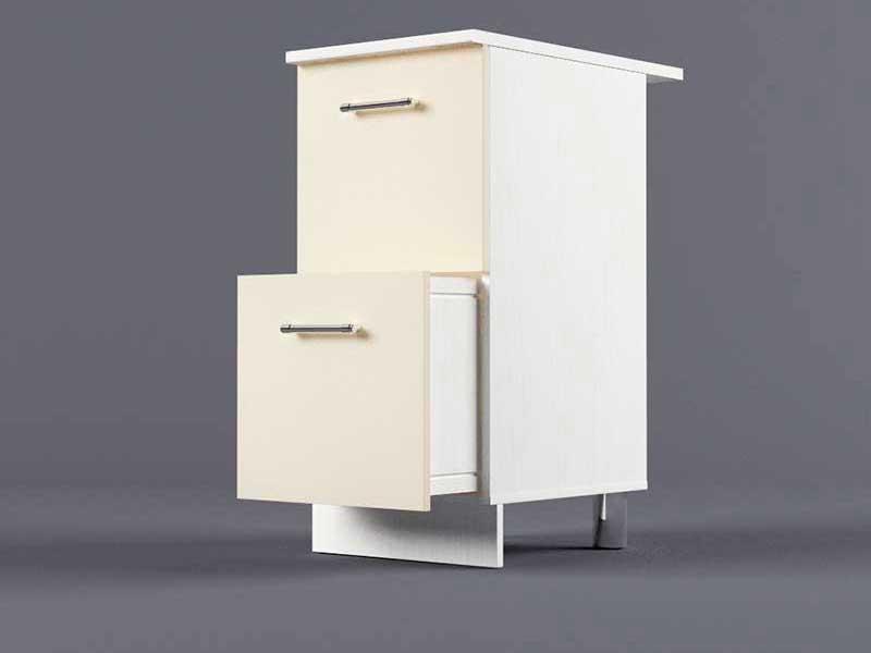 Шкаф напольный Н400 2ящ 850х400х600 Бежевый