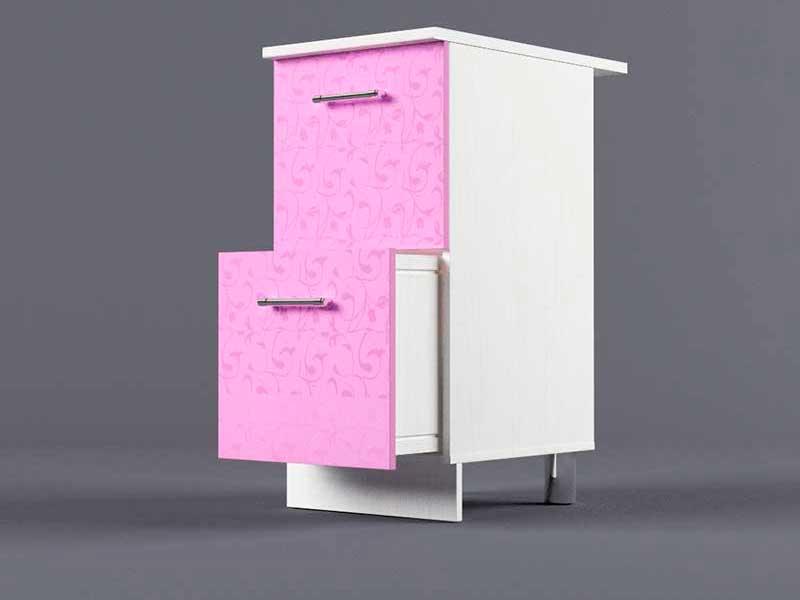 Шкаф напольный Н400 2ящ 850х400х600 Фиолетовый