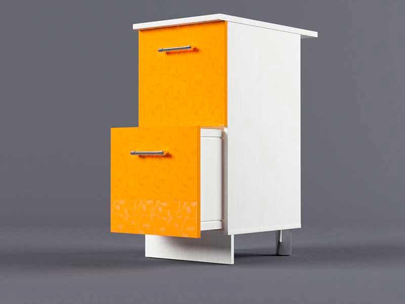 Шкаф напольный Н400 2ящ 850х400х600 Оранжевый