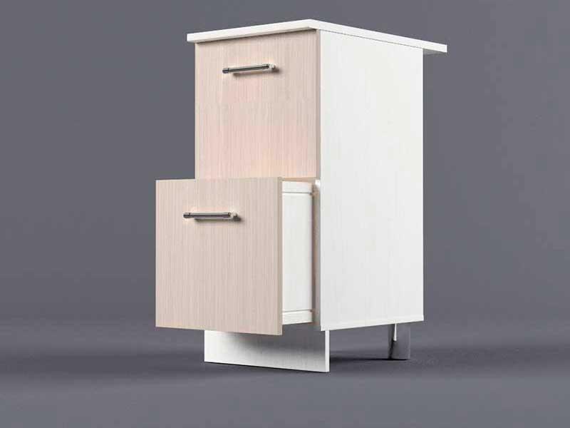Шкаф напольный Н400 2ящ 850х400х600 Шимо светлый
