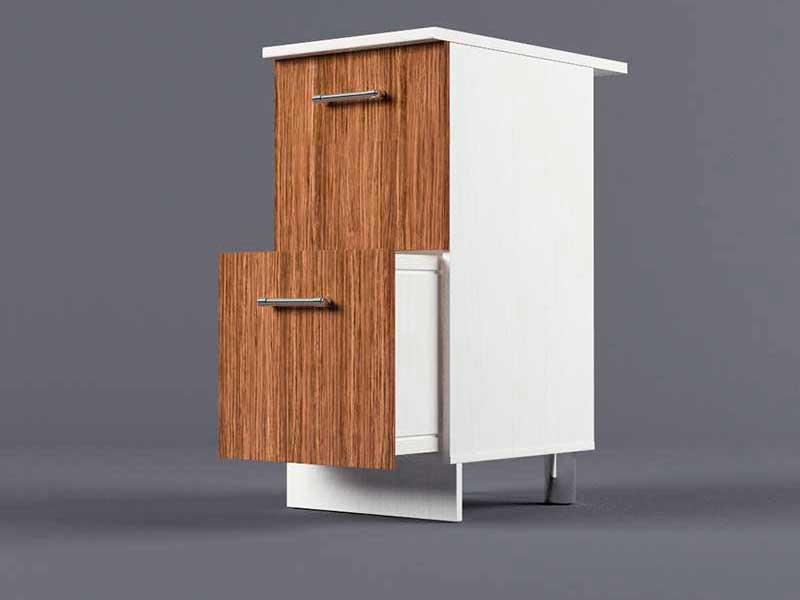 Шкаф напольный Н400 2ящ 850х400х600 Бодега темная