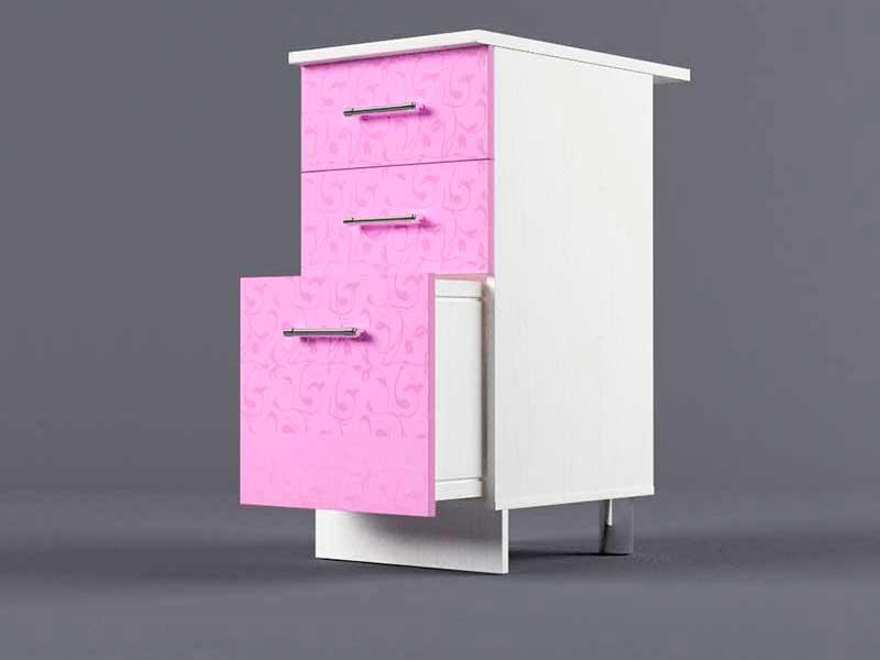 Шкаф напольный Н400 3ящ 850х400х600 Фиолетовый
