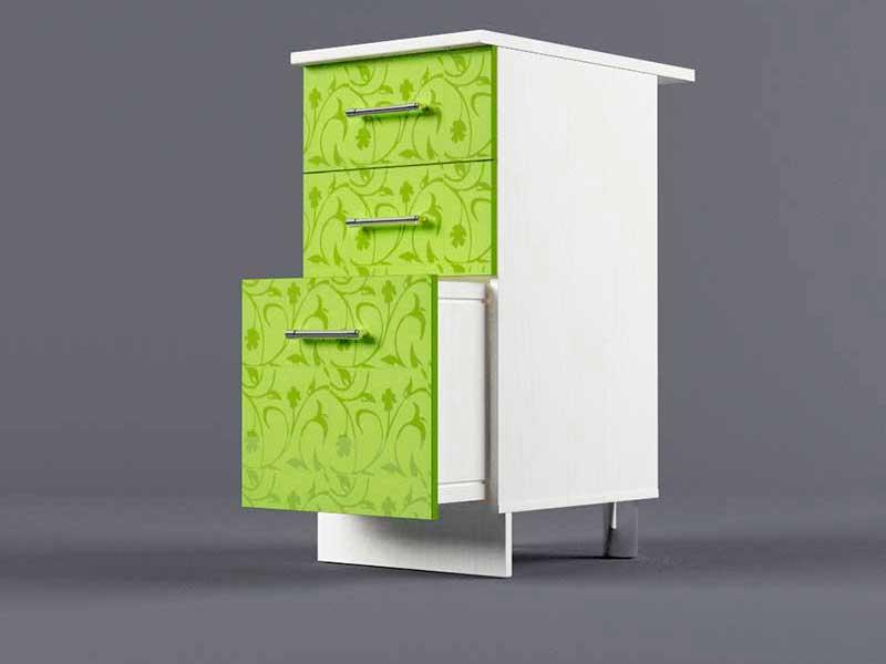 Шкаф напольный Н400 3ящ 850х400х600 Лимон
