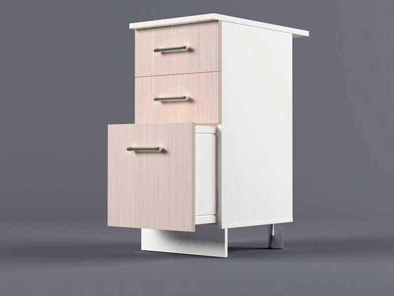 Шкаф напольный Н400 3ящ 850х400х600 Шимо светлый