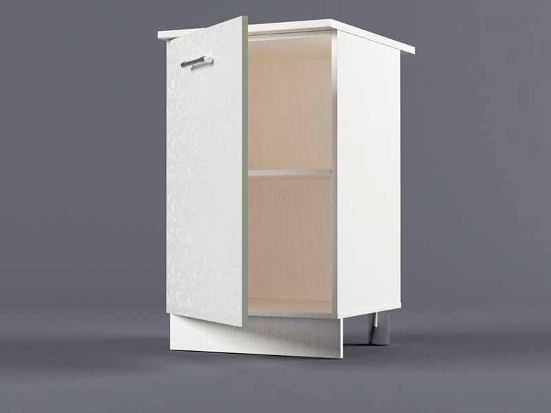 Шкаф напольный Н500 1дв 850х500х600 Белые цветы