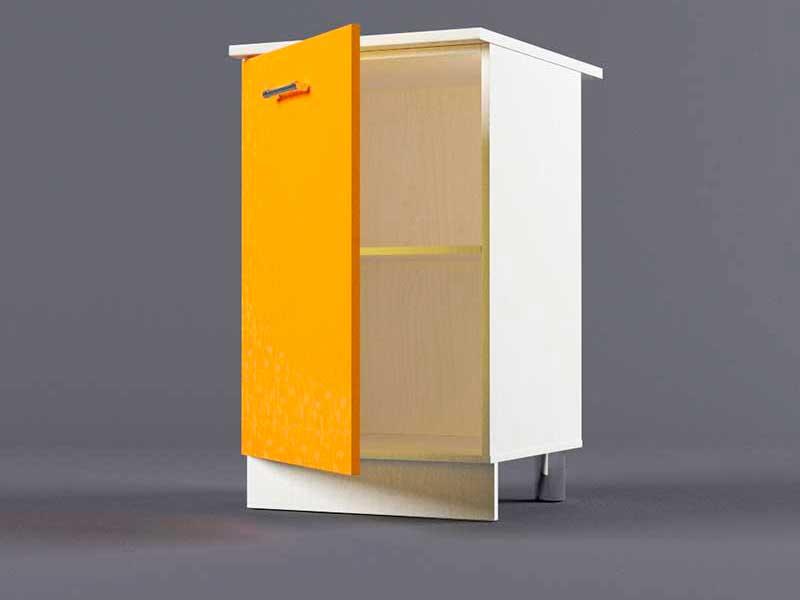 Шкаф напольный Н500 1дв 850х500х600 Оранжевый