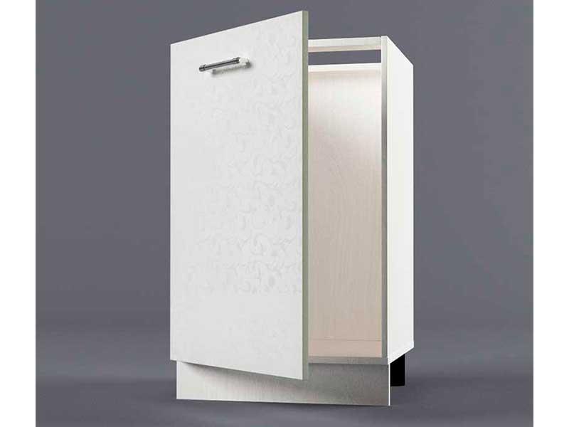 Шкаф напольный Н500 1дв под мойку 850х500х600 Белые цветы