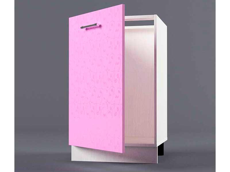 Шкаф напольный Н500 1дв под мойку 850х500х600 Фиолетовый