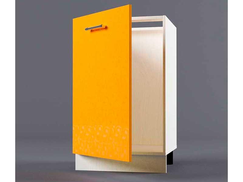 Шкаф напольный Н500 1дв под мойку 850х500х600 Оранжевый