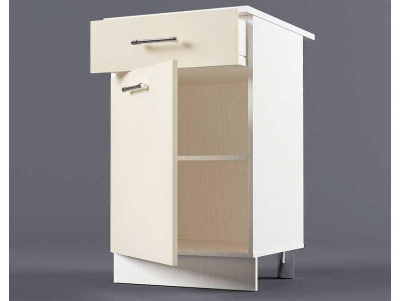 Шкаф напольный Н500 1ящ 1дв 850х500х600 Бежевый