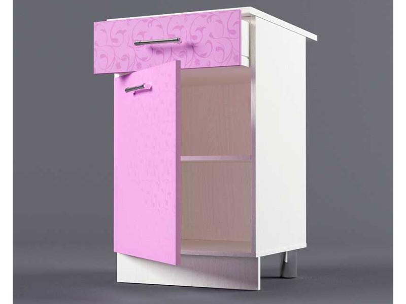 Шкаф напольный Н500 1ящ 1дв 850х500х600 Фиолетовый