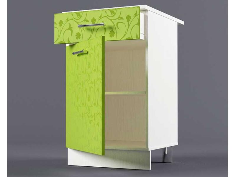 Шкаф напольный Н500 1ящ 1дв 850х500х600 Лимон