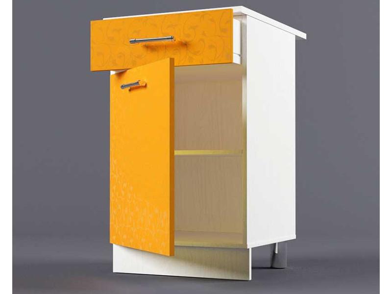 Шкаф напольный Н500 1ящ 1дв 850х500х600 Оранжевый