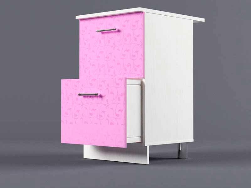 Шкаф напольный Н500 2ящ 850х500х600 Фиолетовый