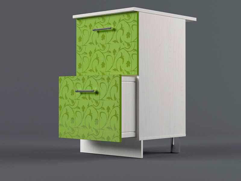 Шкаф напольный Н500 2ящ 850х500х600 Лимон