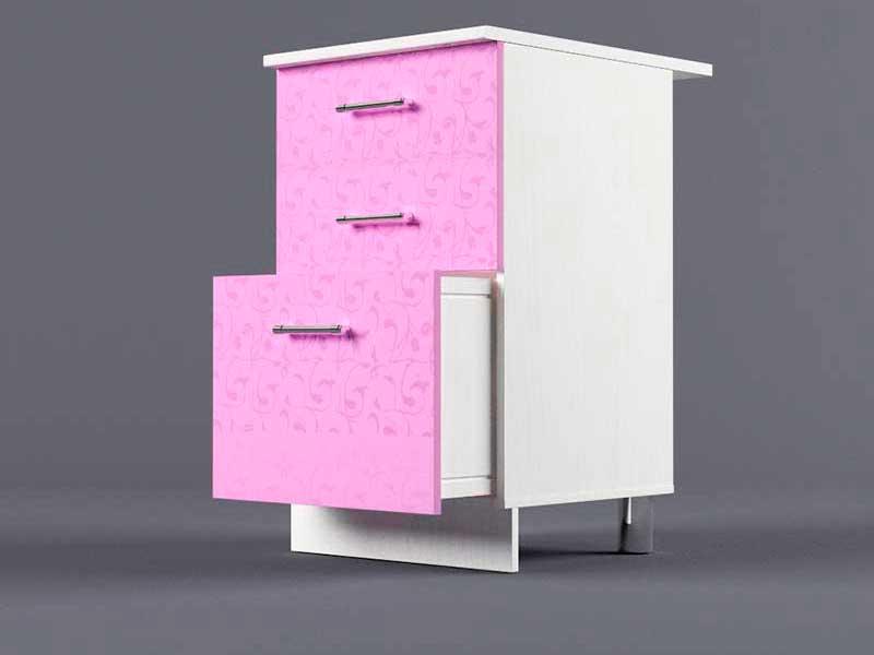 Шкаф напольный Н500 3ящ 850х500х600 Фиолетовый