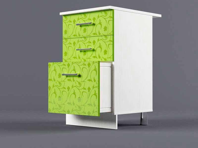 Шкаф напольный Н500 3ящ 850х500х600 Лимон