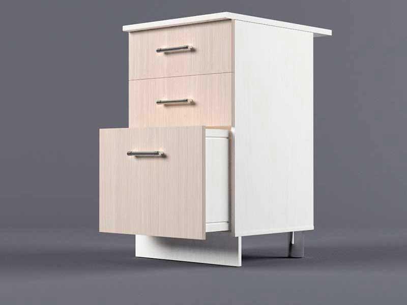 Шкаф напольный Н500 3ящ 850х500х600 Шимо светлый