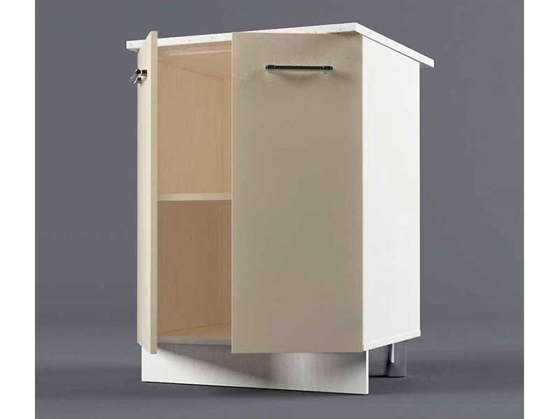 Шкаф напольный Н600 2дв 850х600х600 Бежевый