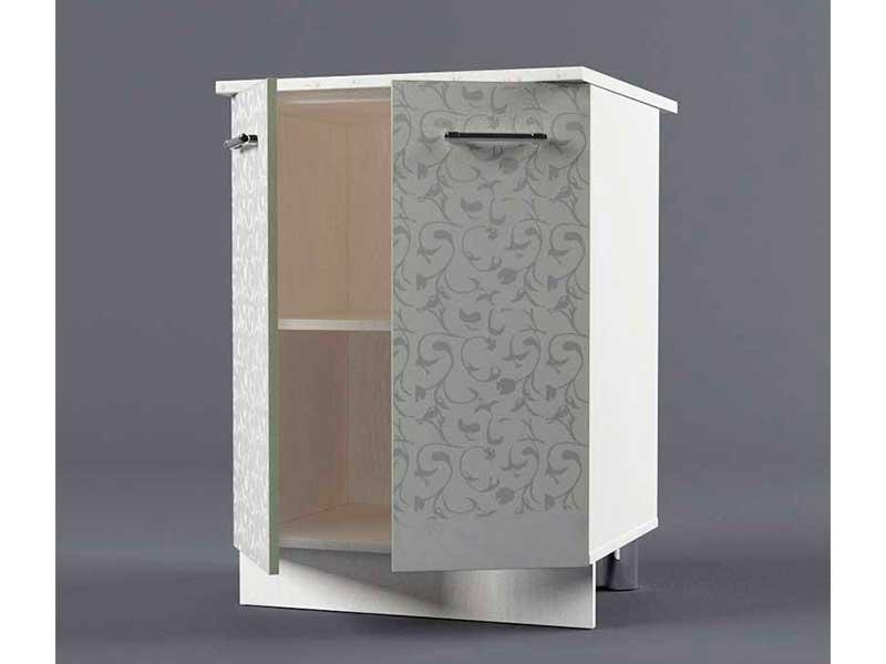 Шкаф напольный Н600 2дв 850х600х600 Белые цветы
