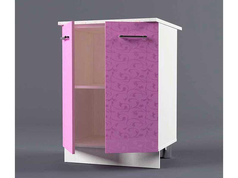 Шкаф напольный Н600 2дв 850х600х600 Фиолетовый