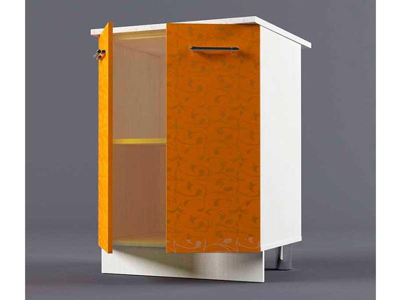 Шкаф напольный Н600 2дв 850х600х600 Оранжевый