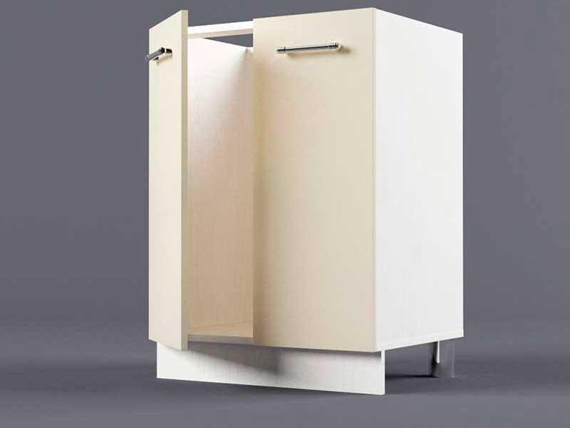 Шкаф напольный Н600 2дв под мойку 850х600х600 Бежевый