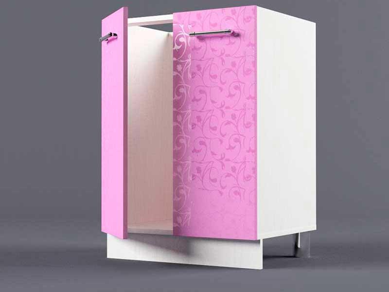 Шкаф напольный Н600 2дв под мойку 850х600х600 Фиолетовый