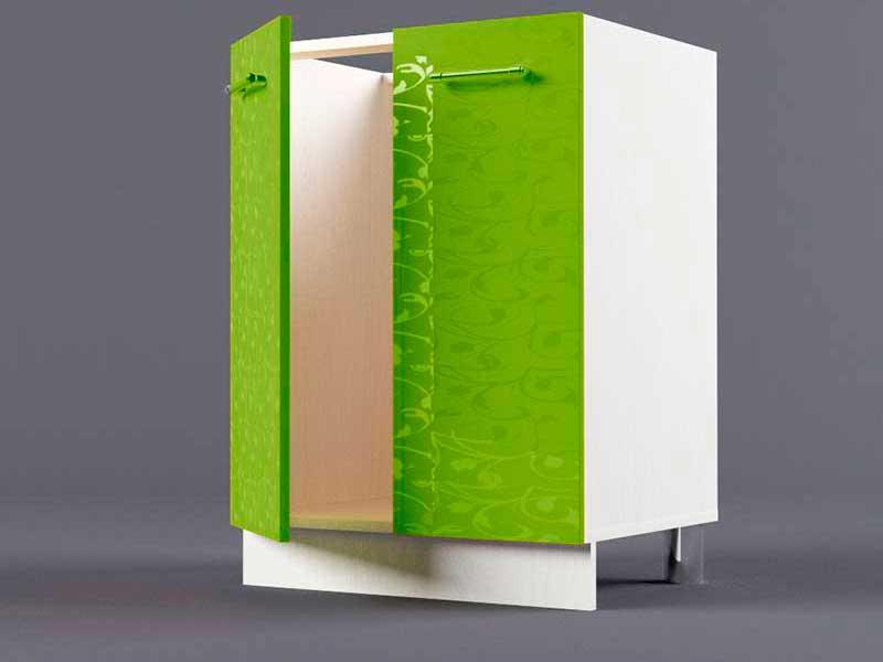 Шкаф напольный Н600 2дв под мойку 850х600х600 Лимон