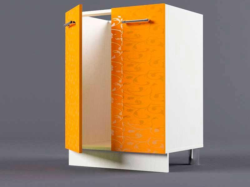 Шкаф напольный Н600 2дв под мойку 850х600х600 Оранжевый