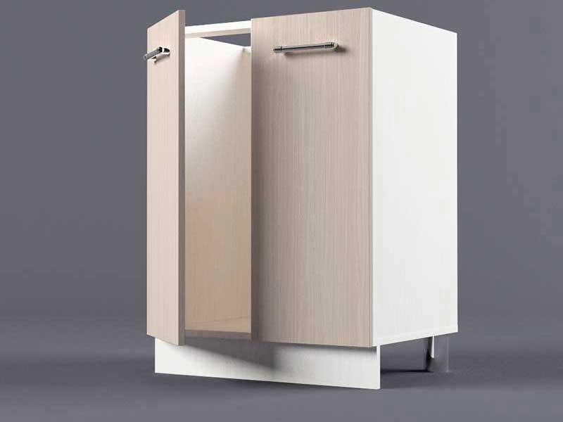 Шкаф напольный Н600 2дв под мойку 850х600х600 Шимо светлый