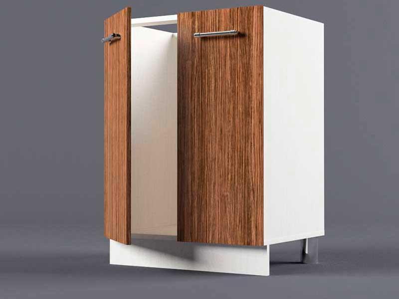 Шкаф напольный Н600 2дв под мойку 850х600х600 Бодега темная