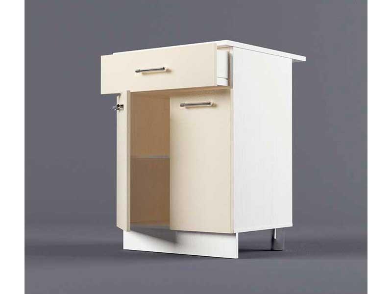 Шкаф напольный Н600 1ящ 2дв 850х600х600 Бежевый