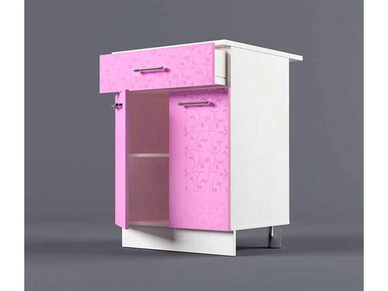 Шкаф напольный Н600 1ящ 2дв 850х600х600 Фиолетовый