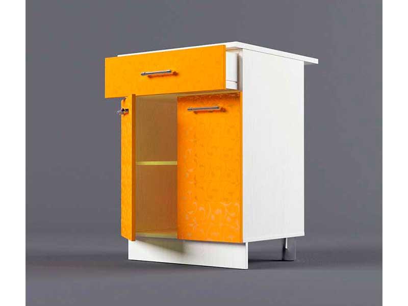 Шкаф напольный Н600 1ящ 2дв 850х600х600 Оранжевый