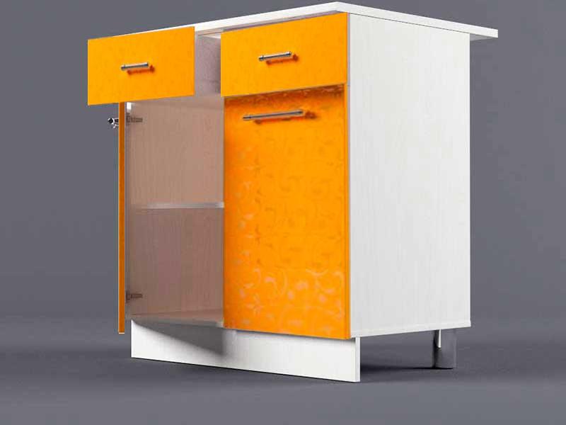 Шкаф напольный Н800 2ящ 2дв 850х800х600 Оранжевый