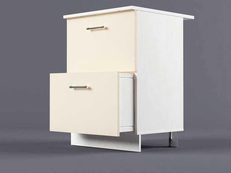 Шкаф напольный Н600 2ящ 850х600х600 Бежевый