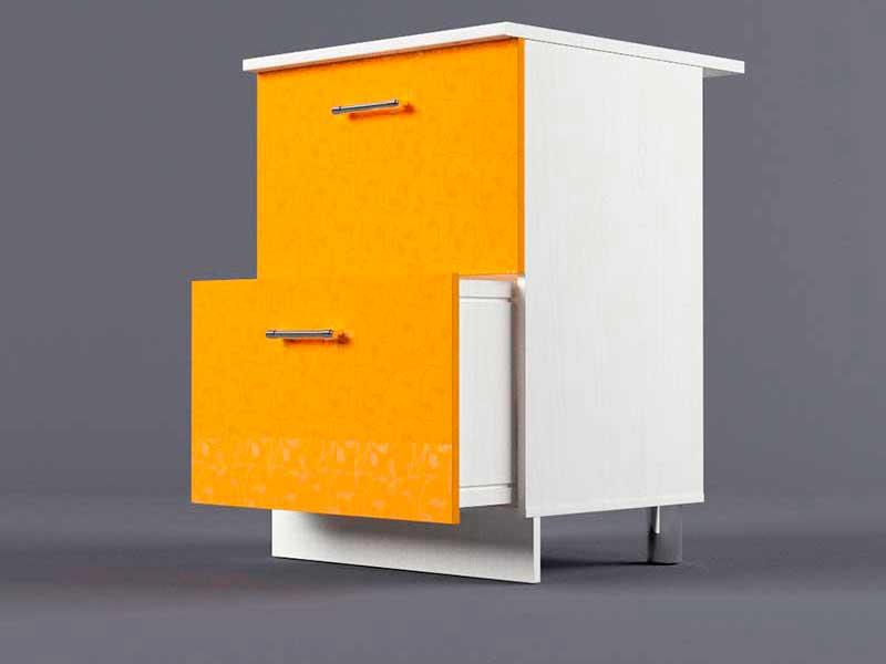 Шкаф напольный Н600 2ящ 850х600х600 Оранжевый