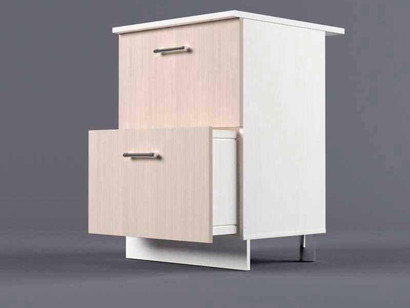 Шкаф напольный Н600 2ящ 850х600х600 Шимо светлый