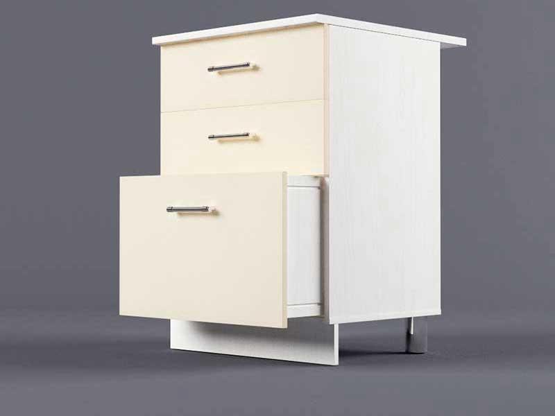 Шкаф напольный Н600 3ящ 850х600х600 Бежевый
